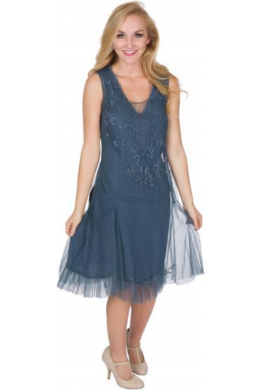 Nataya AL-254 Party Dress in Sapphire