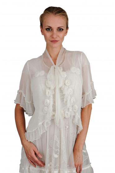 T-412 Vintage Inspired Top in Ivory by Nataya