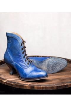 Victorian Style Boots in Steel Blue