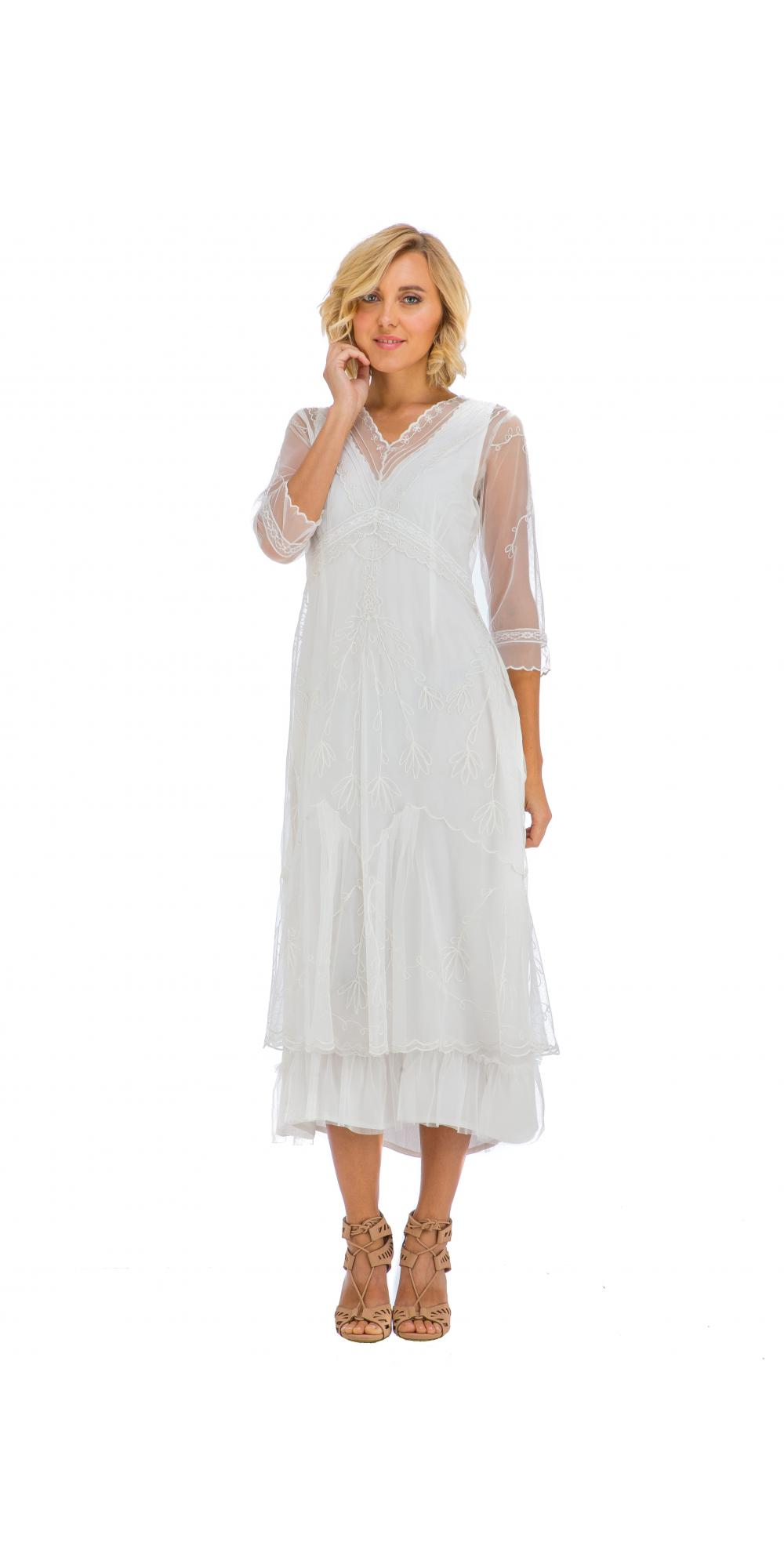 3e34e27f772d7 True Romance Nataya CL-509 Somewhere in Time Dress in Ivory. Loading zoom