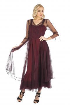 Nataya CL-075 Vintage Style Wedding Dress in Ruby