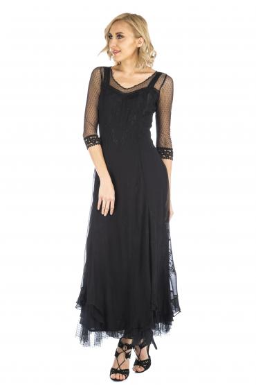 Nataya CL-068 Vintage Style Wedding Dress in Black