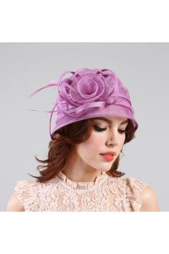 1920s Style Sinamay Bucket Hat in Lavender