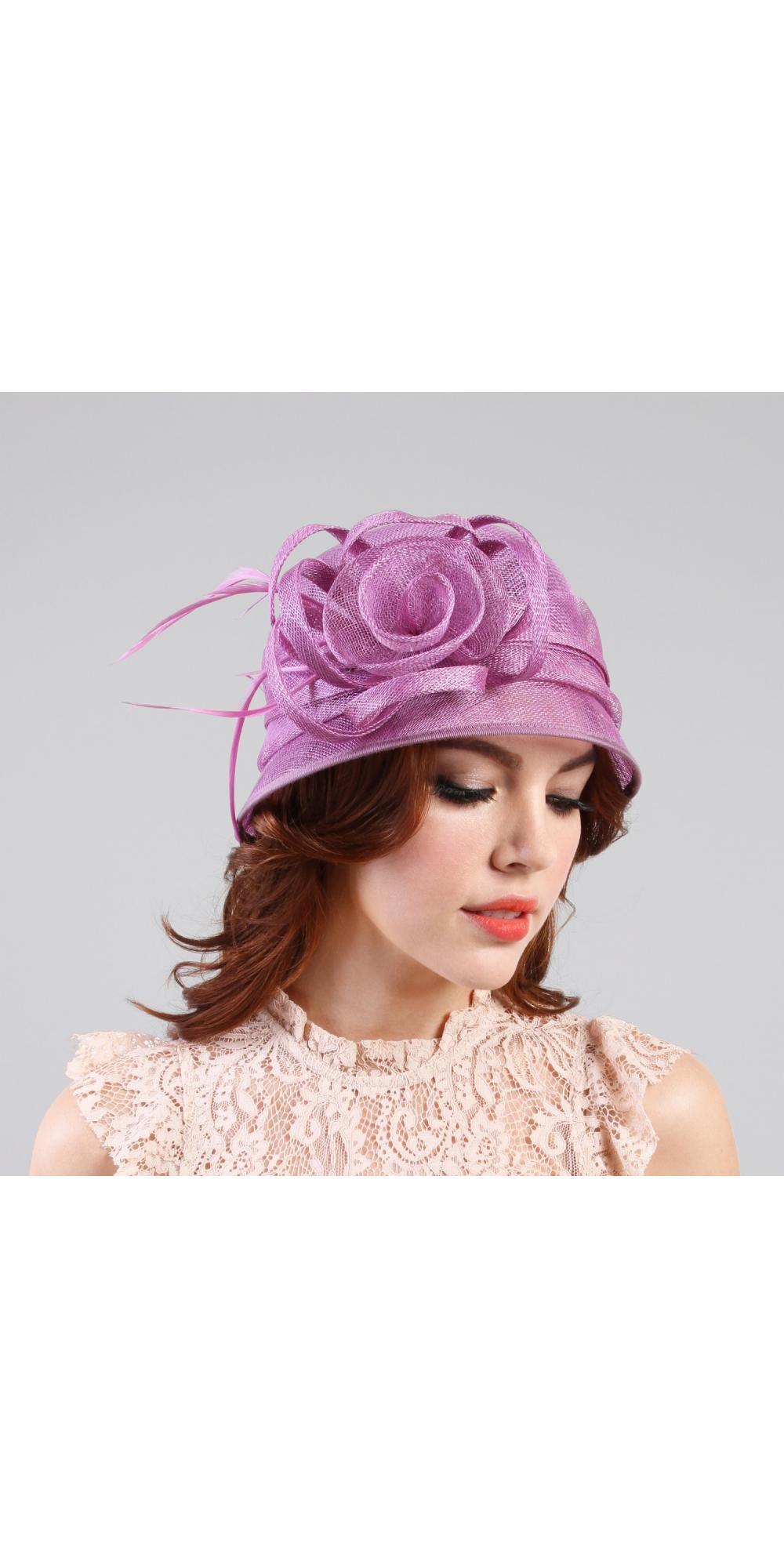 75af96cf 1920s Style Sinamay Bucket Hat in Lavender