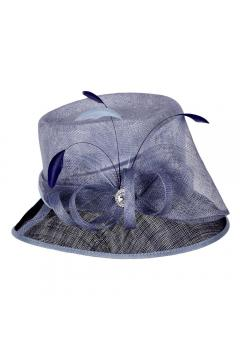 1920s Loopy Sinamay Hat in Navy - SOLD OUT