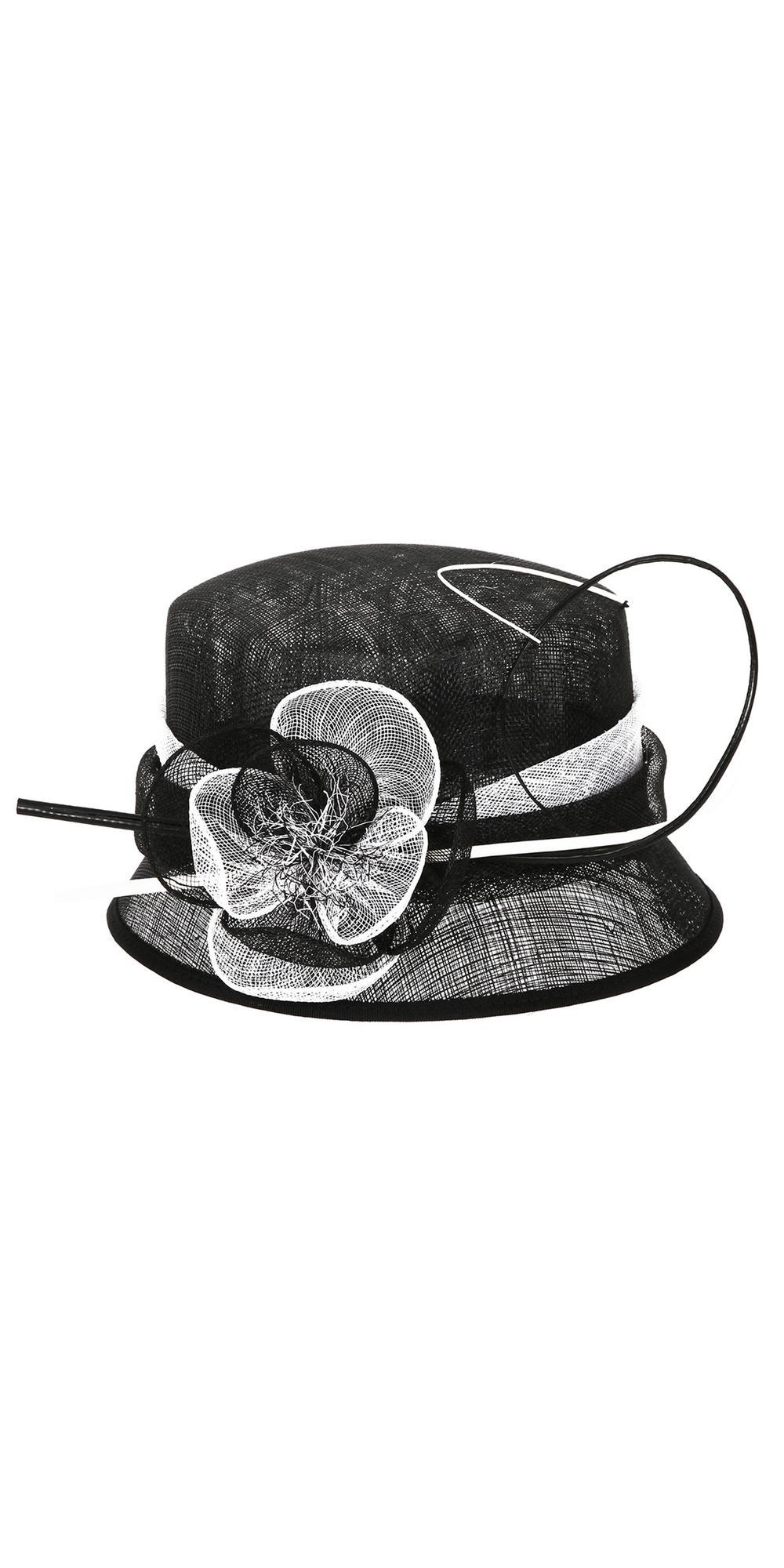 1920s Cloche Sinamay Hat in Black White. Loading zoom edf51fe5f02