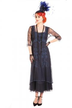 Nataya CL-202 Vintage Style Party Dress in Sapphire