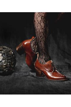 Vintage Style Shoes in Cognac