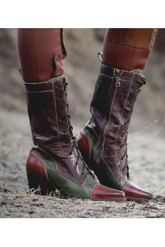 Modern Vintage Boots in Cognac Teak