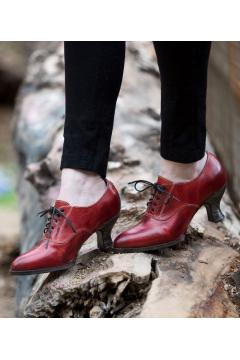 Victorian Style Shoes in Red Rustic - SOLD OUT