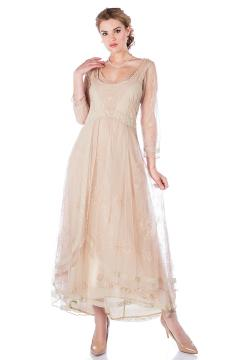 Nataya 40163 Downton Abbey Tea Party Gown in Antique