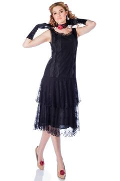 Nataya AL-282 Vintage Style Dress in Black