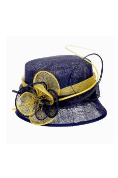 1920s Cloche Sinamay Hat Blue