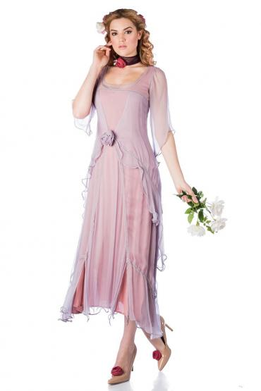 Nataya 10709 1920s Wedding Dress in Mauve