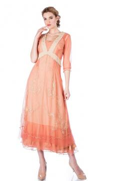 Onegin 40701 Dress in Rose Gold by Nataya