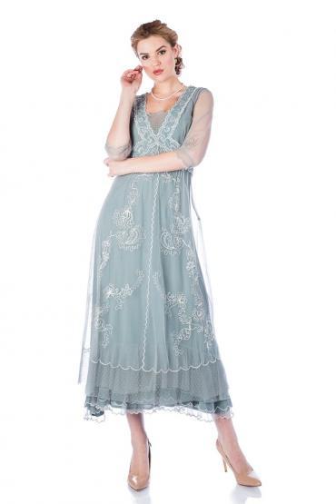 Onegin 40701 Dress in Aqua by Nataya
