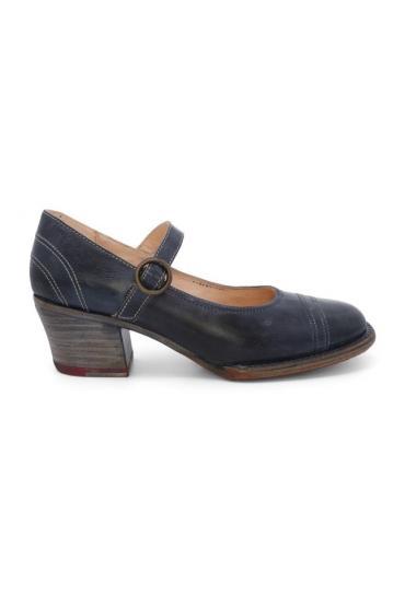 Twigley Vintage Style Heels in Navy Rustic