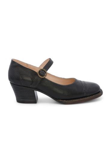 Twigley Vintage Style Heels in Black Rustic