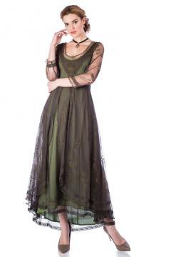 Nataya Downton Abbey Dress 40163 in Emerald