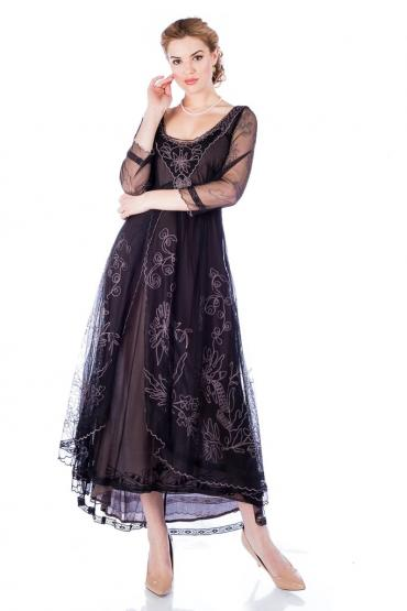 Nataya Downton Abbey Dress 40163 in Black/Coco