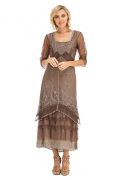 Nataya AL-2101 Titanic Dress in Chocolate