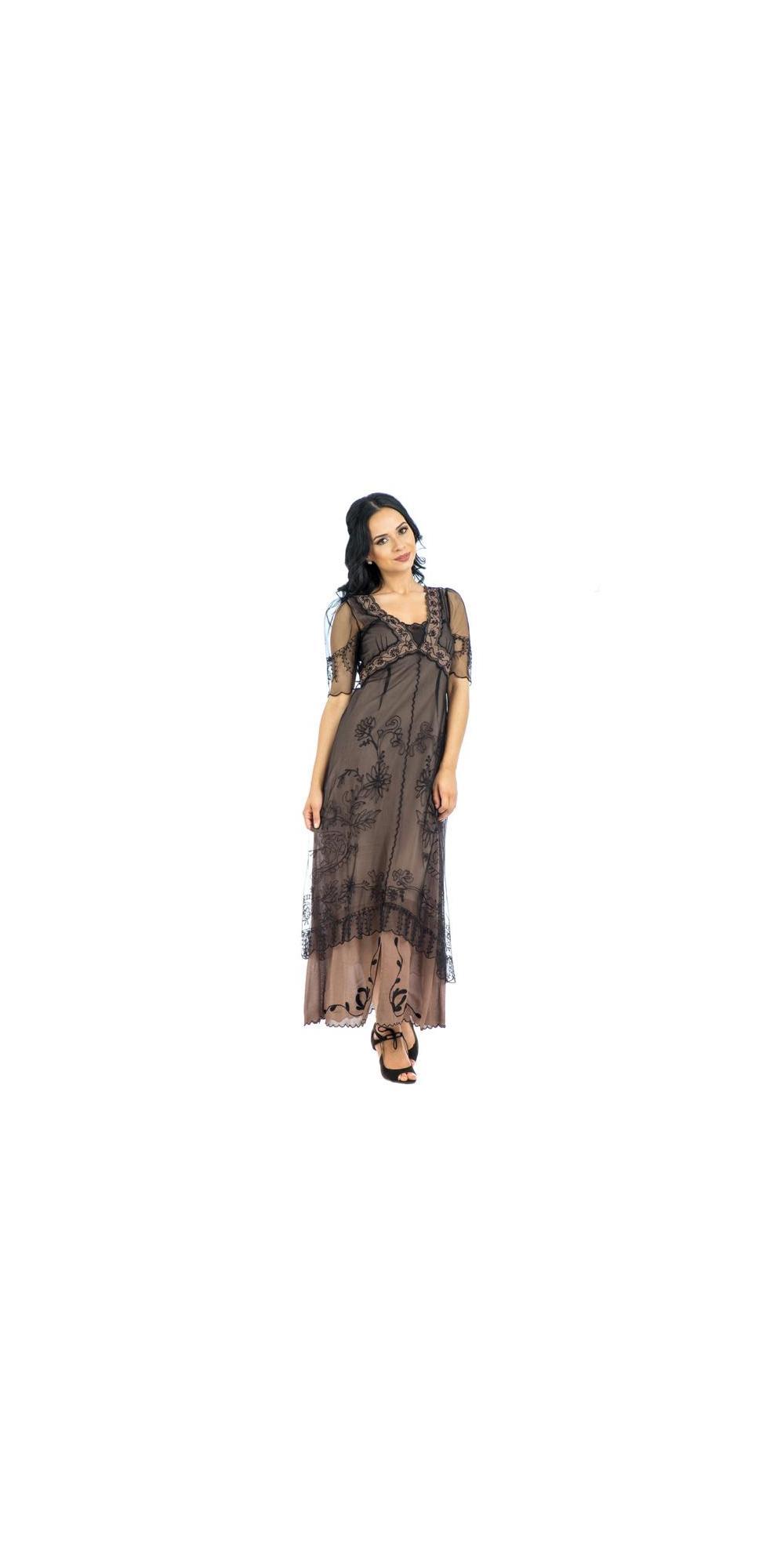 Nataya 40007 New Titanic Dress in Black/Coco