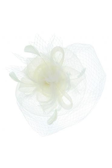 Vintage Style Veil Fascinator in White