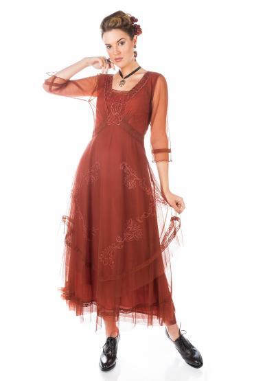 Nataya CL-163 Party Dress in Paprika