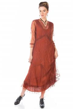 Nataya Somewhere in Time Dress in Paprika