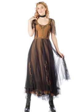 Nataya Alice 40815 Dress in Black/Gold