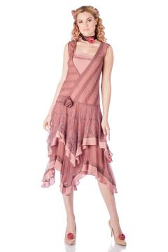 Nataya Charly Flapper Dress in Mauve