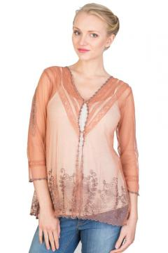 Vintage Titanic Top in Rose-Silver by Nataya