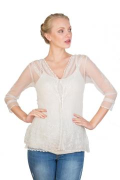 Vintage Titanic Top in Ivory by Nataya
