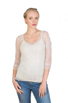 Art Nouveau Vintage Top in Ivory by Nataya