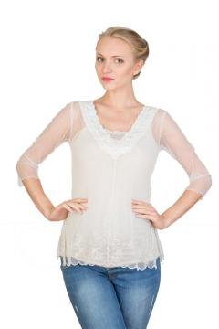 Victorian Top in Ivory by Nataya