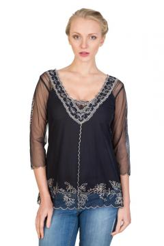 Victorian Top in Black by Nataya