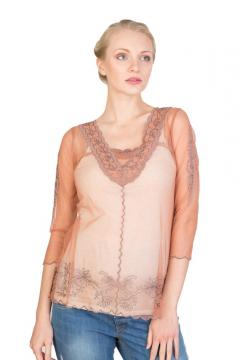 Victorian Top in Rose/Silver by Nataya