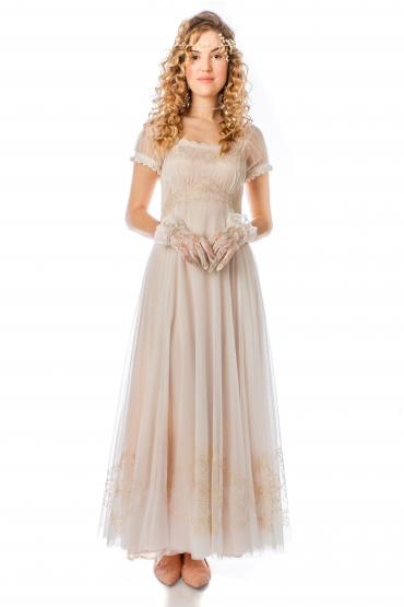 Nataya Edwardian Romance Wedding Gown in Ivory