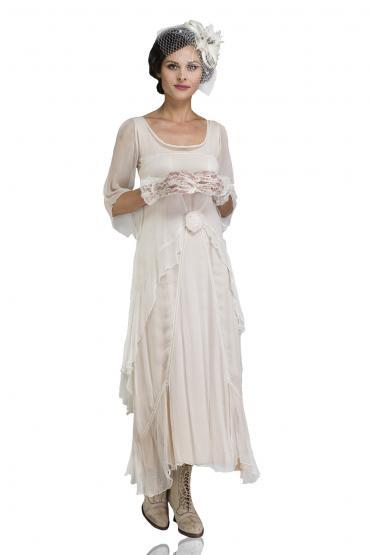 Nataya 10709 1920s Wedding Dress in Ivory