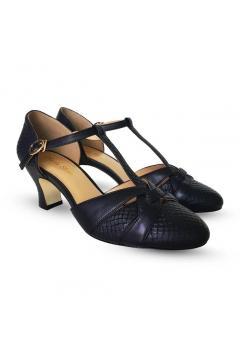 Peta 1920s Style Heels in Black
