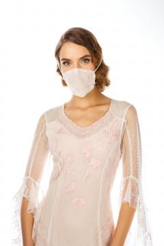 Breathable Dressy Face Mask in Ivory by Nataya