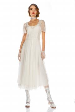 Alice Vintage Style Dress in Ivory by Nataya