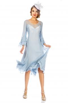 Vintage Inspired Sky Blue Dress by Nataya