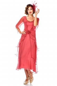 Great Gatsby Party Dress in Rose Blossom by Nataya