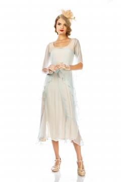 Great Gatsby Party Dress in Nude Mint by Nataya