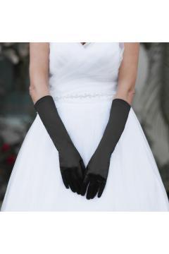 Above Elbow Wedding Gloves in Black