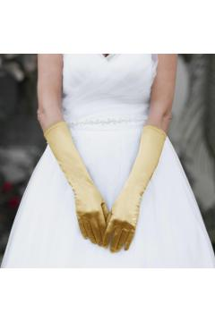 ABOVE ELBOW WEDDING GLOVES IN GOLD