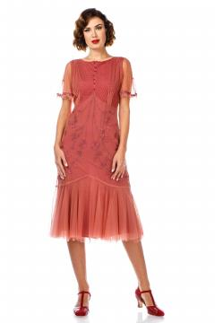 Nataya 40834 Flapper Dress in Rose