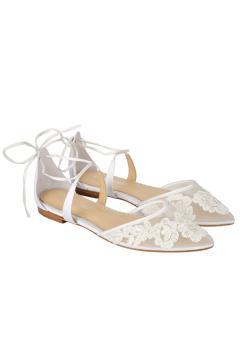 Alicia Bridal Heels in Ivory