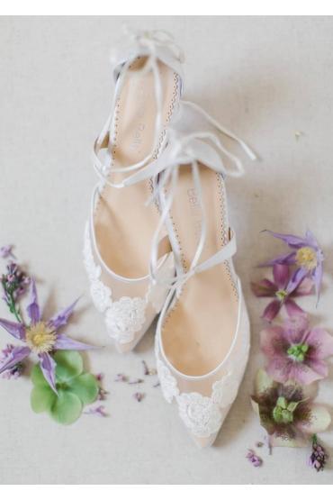 Amelia Bridal Heels in Ivory